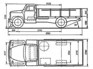Габаритные размеры ГАЗ-53